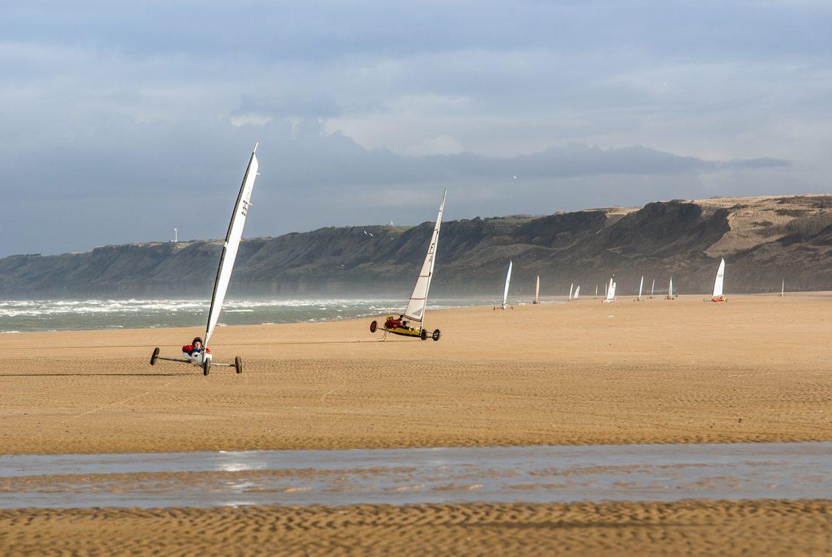 Strandsegeln in Colleville-sur-Mer