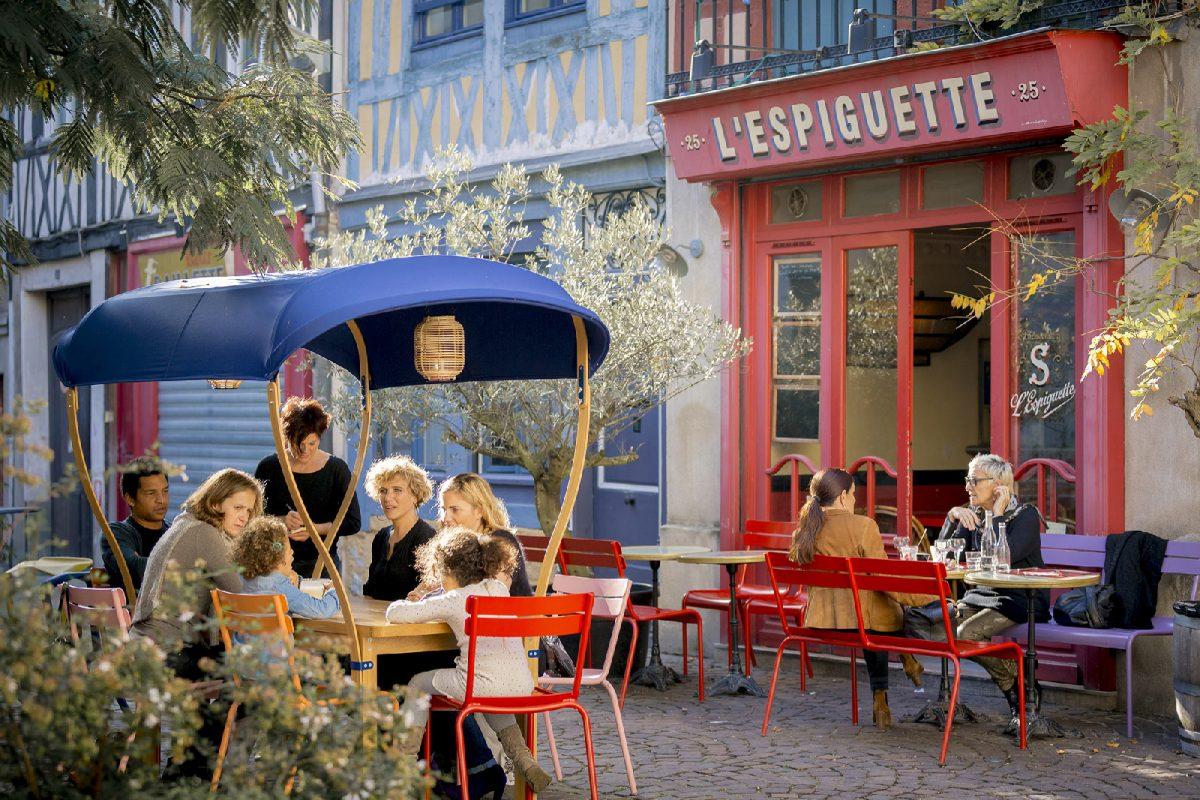 Restaurant in der Rue de Robec in Rouen