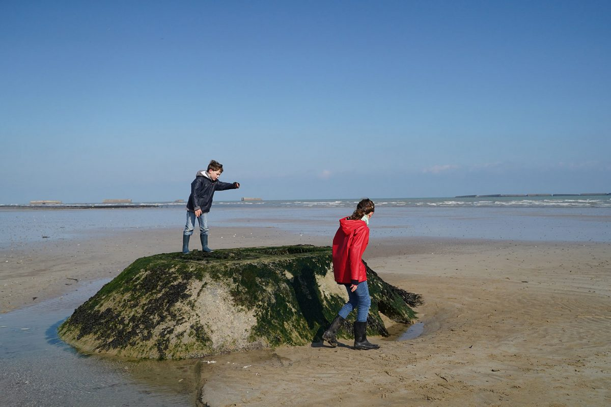 Arromanches mit Kindern - D-Day