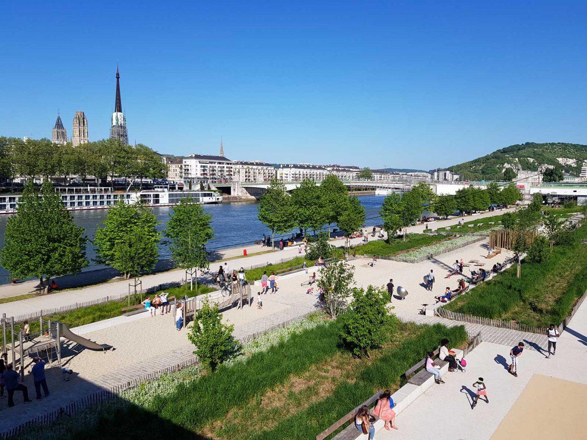 Rouen, am Ufer der Seine