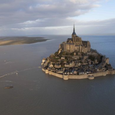 Gezeiten am Mont Saint-Michel
