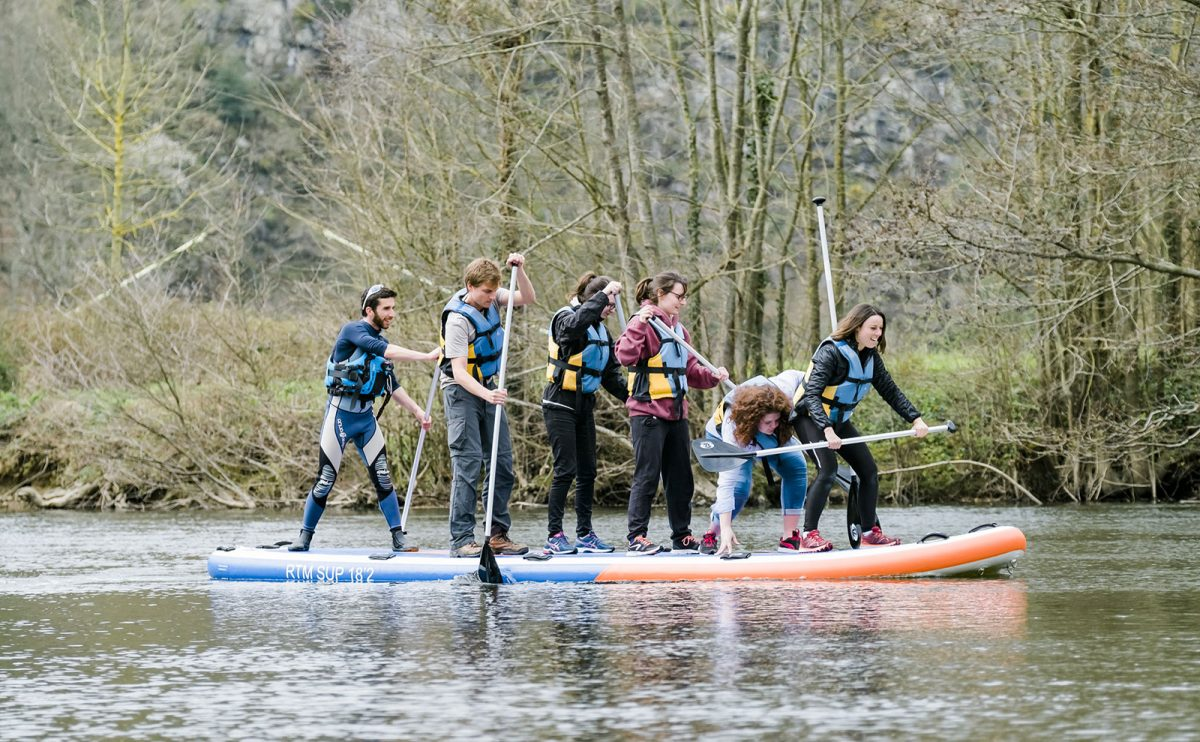 Paddle in der normannischen Schweiz