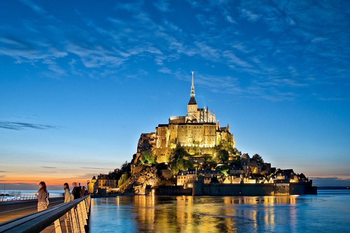 Abendstimmung am Mont Saint-Michel