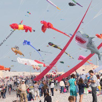 Drachenfestival von Dieppe am Ärmelkanal