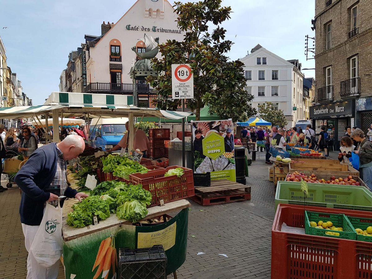 Markt von Dieppe