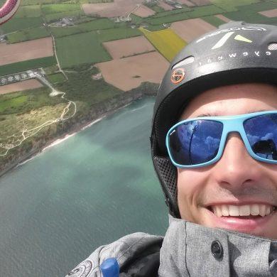 Paragliding in der Normandie