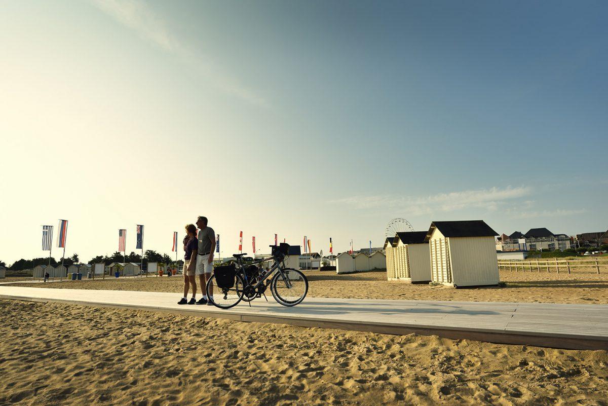 Der Strand von Ouistreham, Teil der Vélo Francette