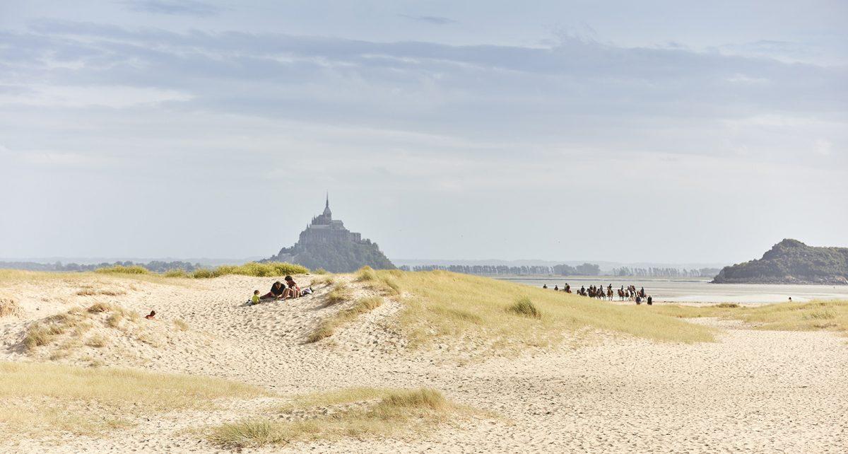 Ausritt in der Bucht des Mont Saint-Michel