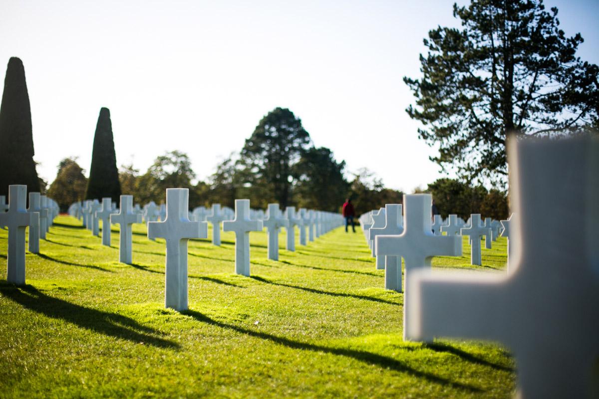 Amerikanischer Soldatenfriedhof von Colleville-sur-Mer, Omaha Beach, D-Day