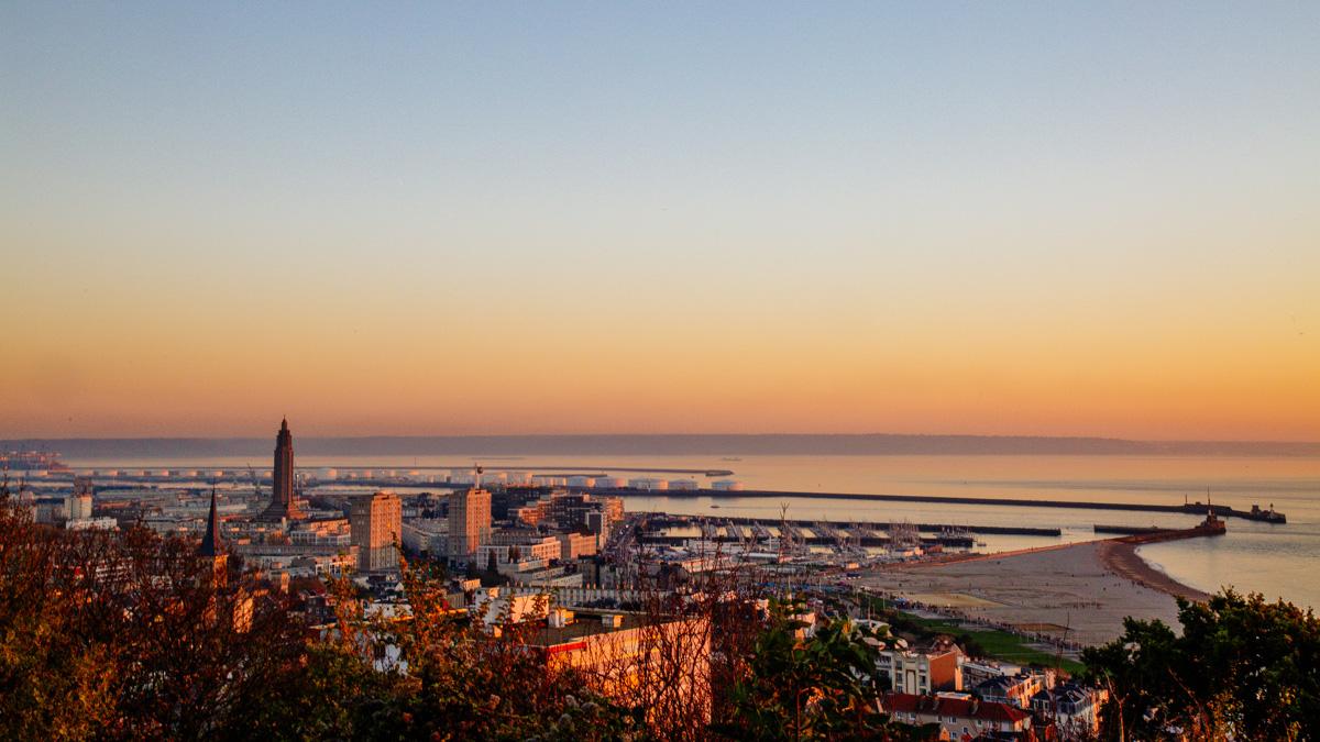 Sonnenuntergang über Le Havre