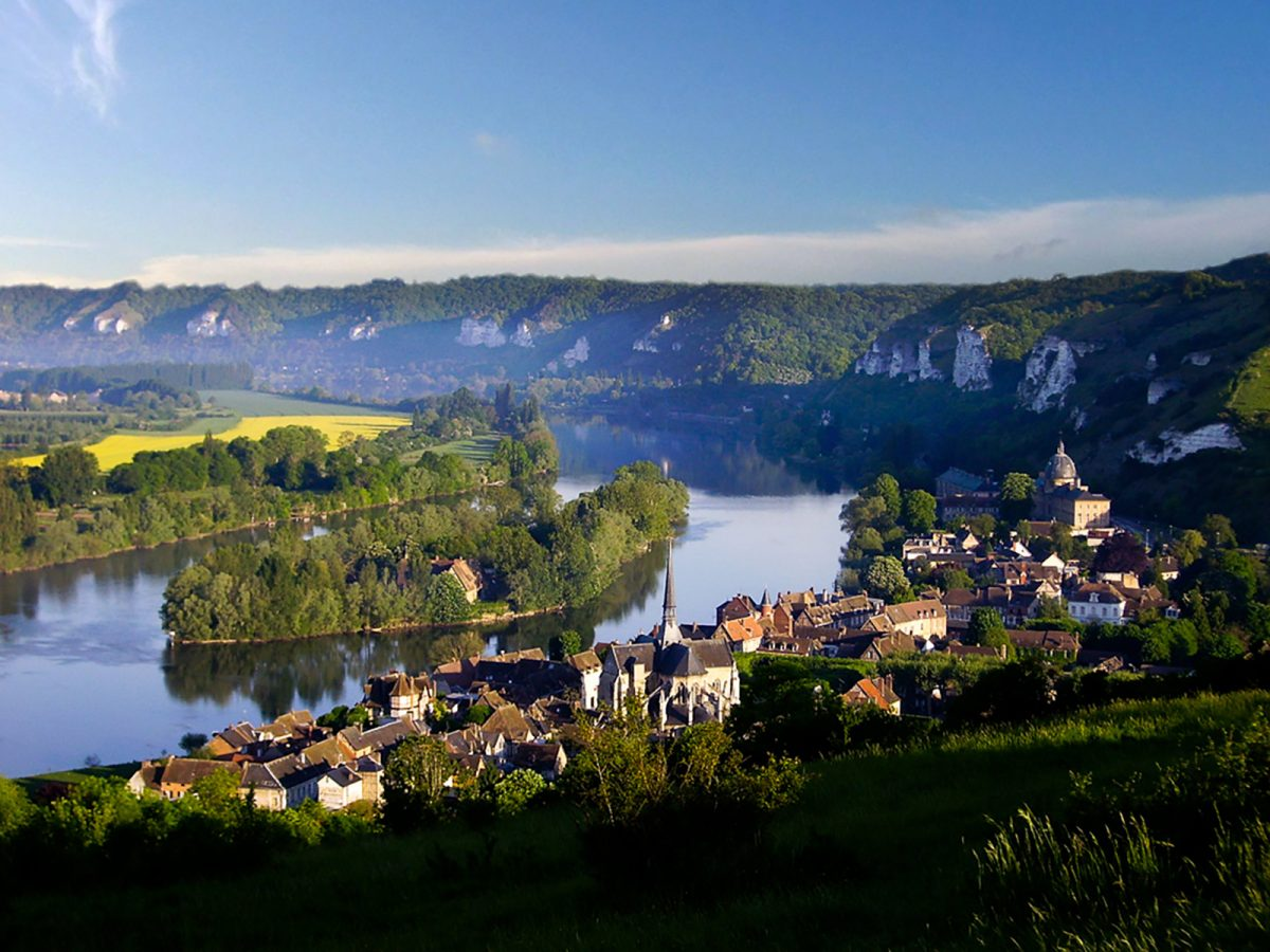 Landschaft im Tal der Seine bei Les Andelys