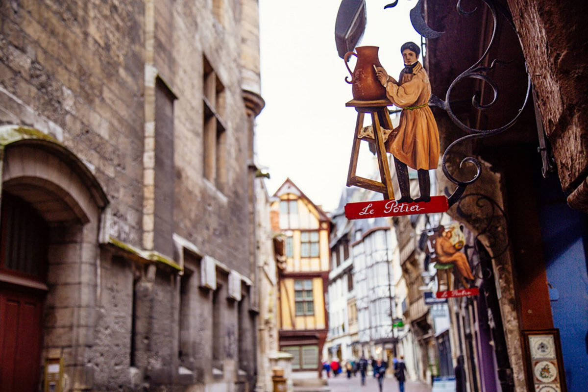 Stadtzentrum von Rouen