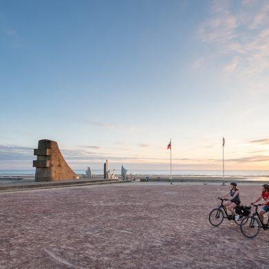 Mit dem Fahrrad auf der Vélomaritime entlang der Küste der Normandie