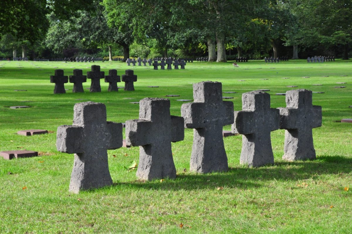 Deutscher Friedhof in La Cambe in der Normandie