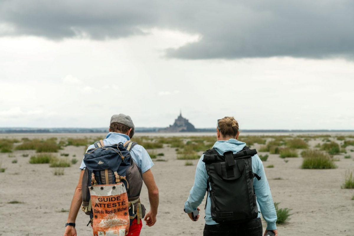 Wattwanderung in der Bucht des Mont Saint-Michel