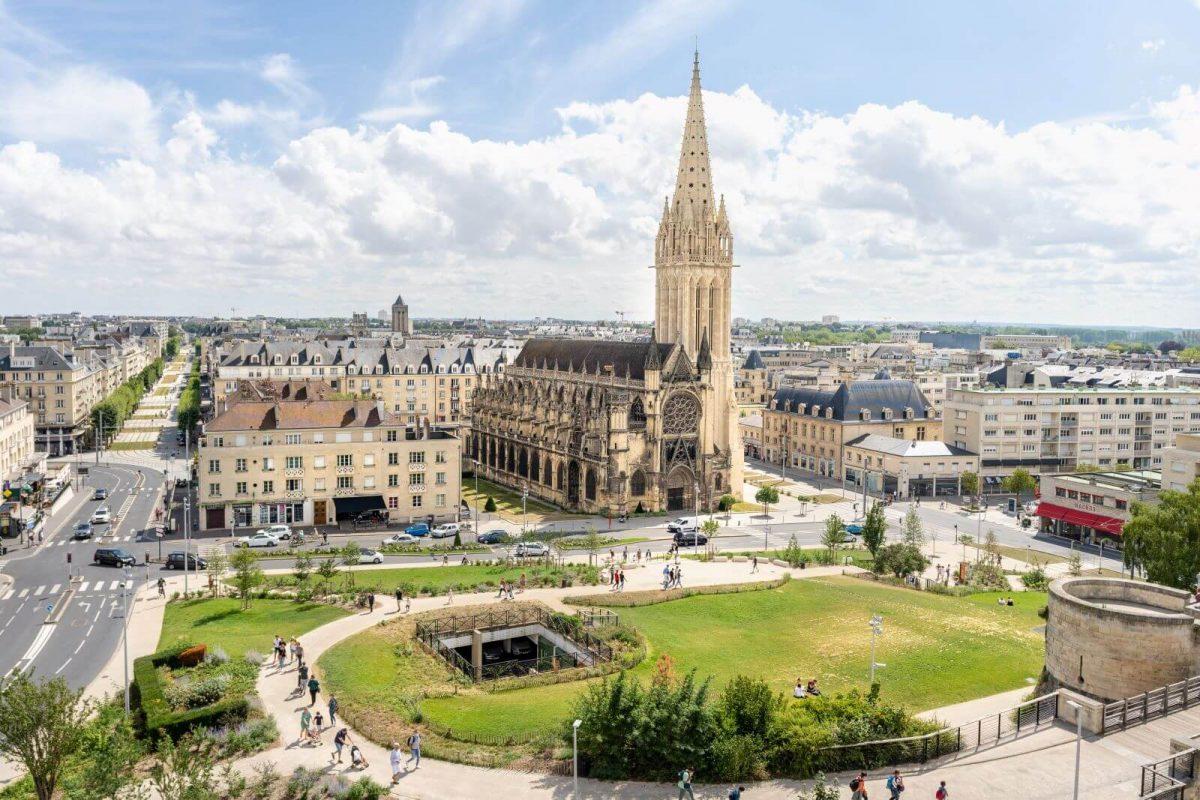 Blick auf Caen vom Schloss Wilhelm des Eroberers