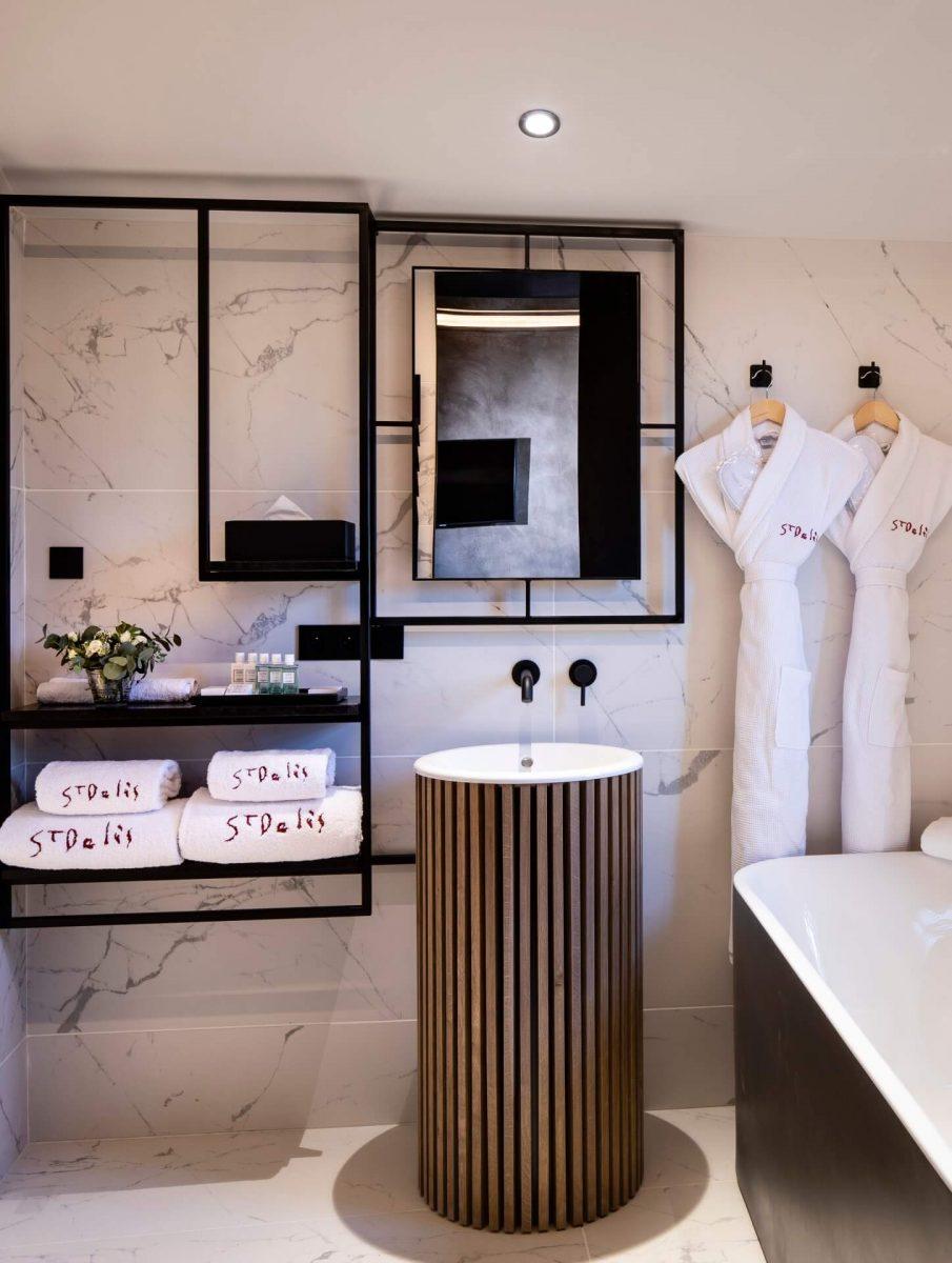 Badezimmer Hotel Saint Delis