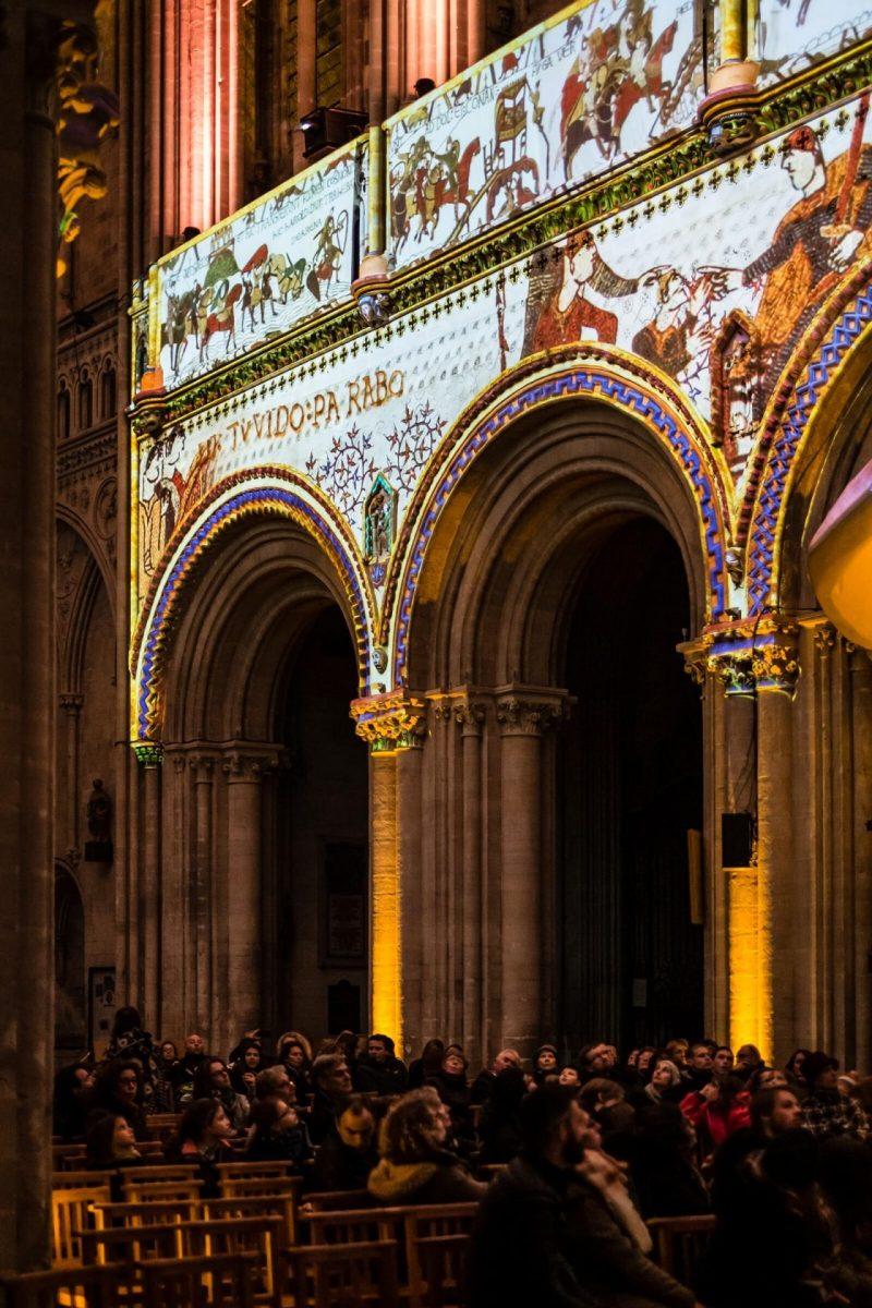 """Lichtspektakel """"Wilhelms Kathedrale"""""""