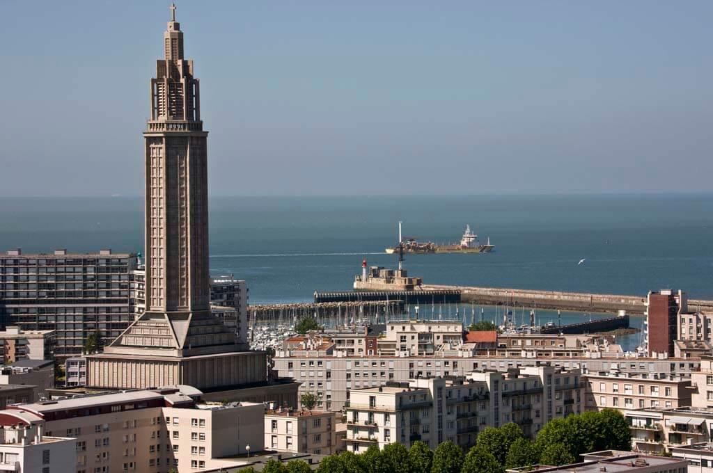 Blick auf die UNESCO-Stadt Le Havre