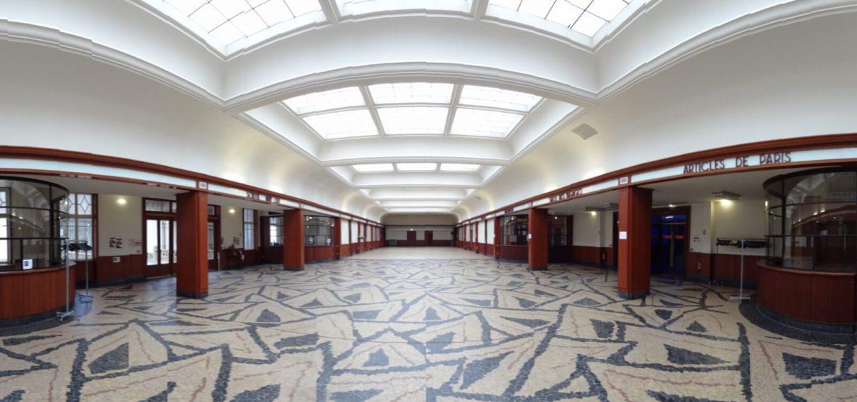 """Empfangssaal """"Salle des pas perdus"""" Cité de la Mer"""