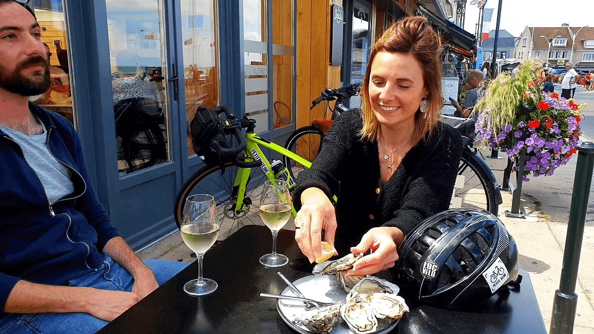Austernrestaurant in Arromanches-les-Bains