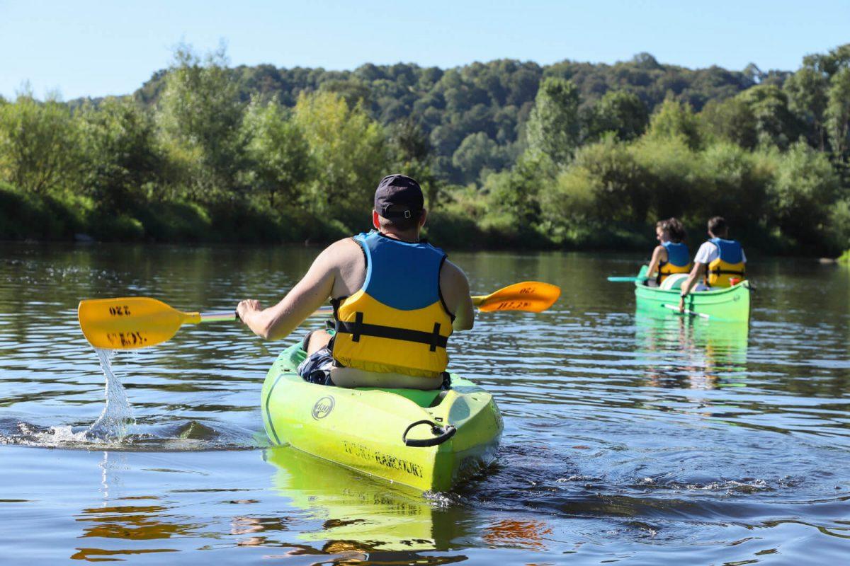 Kanutour auf dem Fluss Orne