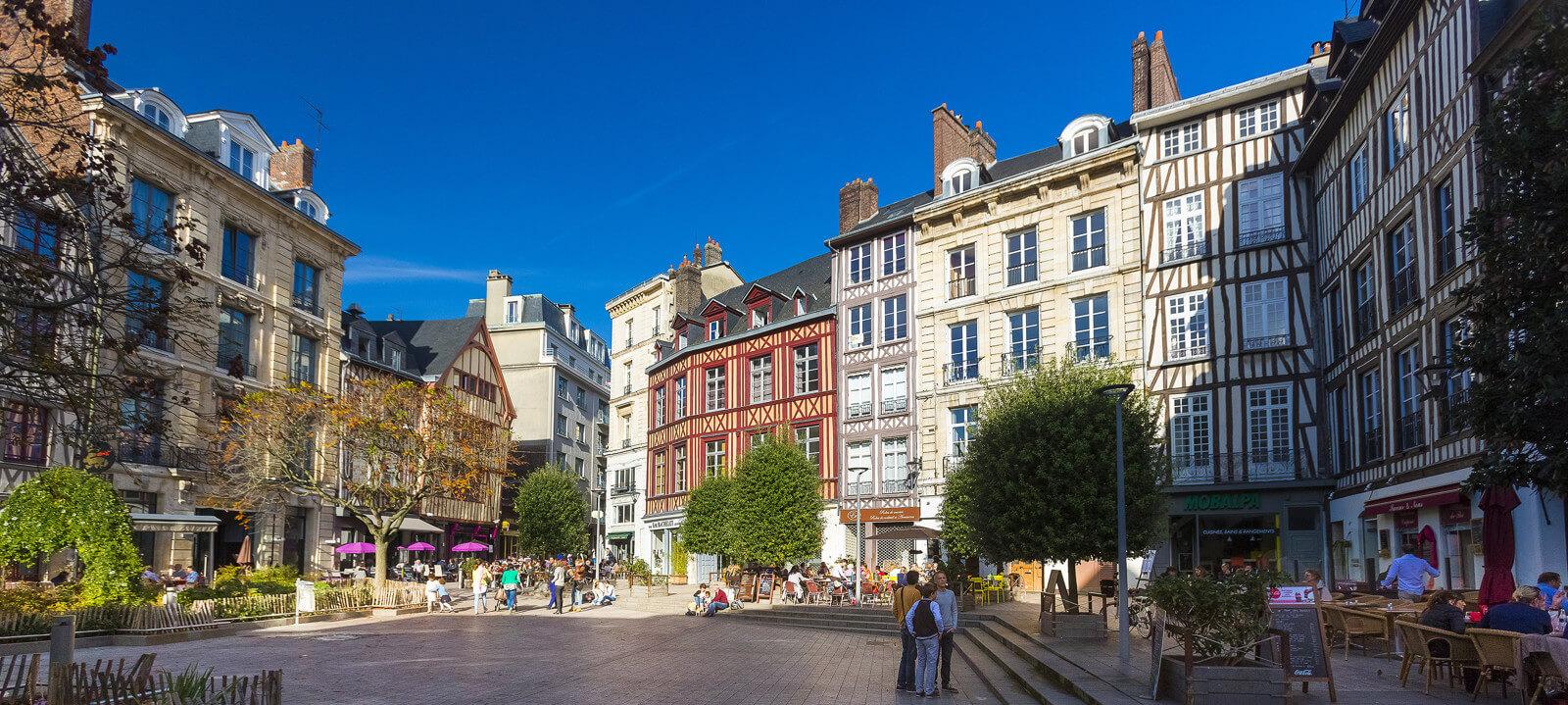 Zentrum von Rouen