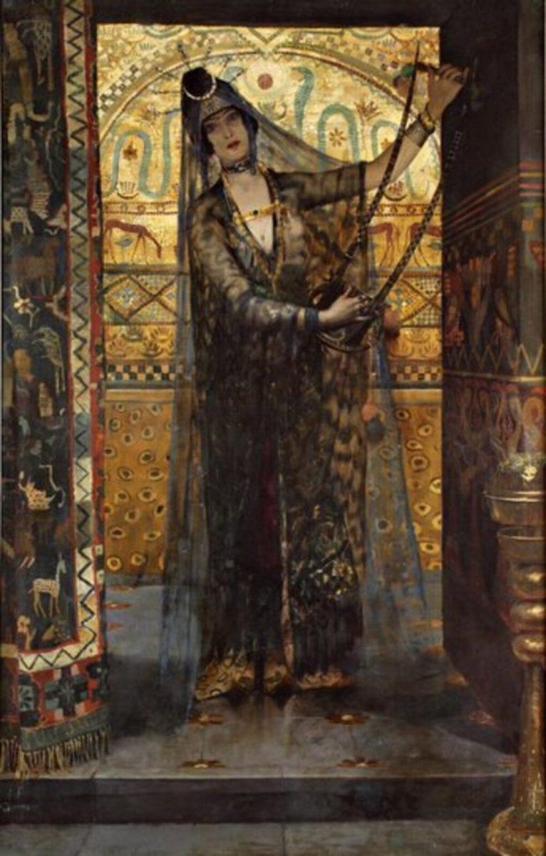 George-Antoine Rochegrosse, Salammbô, 1886 © Moulins, Anne de Beaujeu