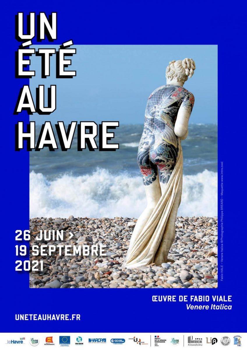 Plakat Ein Sommer in Le Havre 2021 - Fabio Viale, Venere Italica