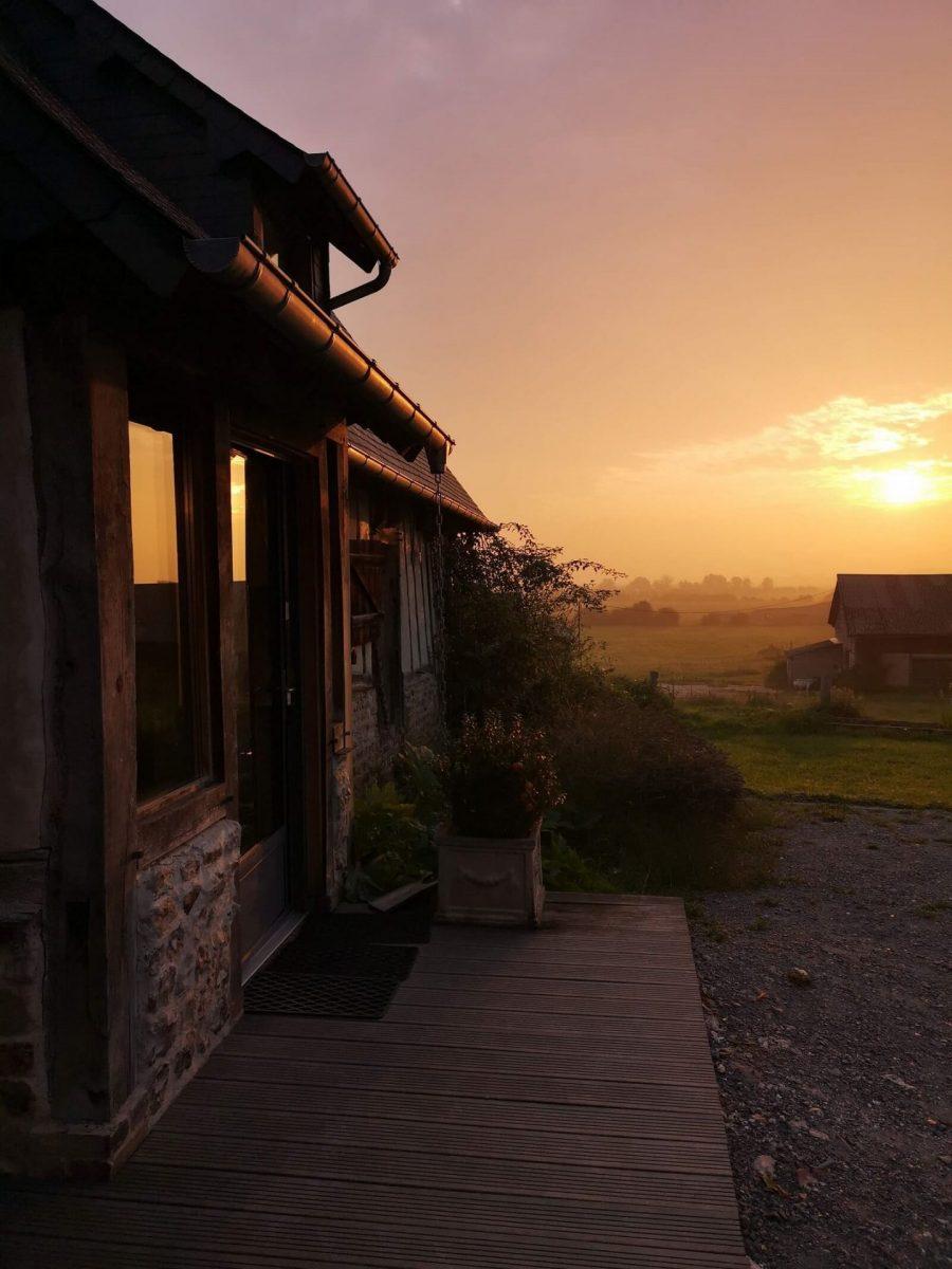 Sonnenaufgang Marais Vernier