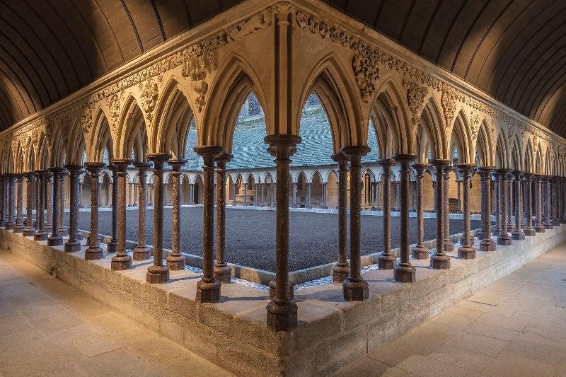 Abtei Mont Saint-Michel: Kreuzgang